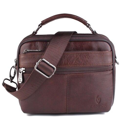 ZZNICK 2020 New Fashion Genuine  Leather Shoulder Bag Small Messenger Bags Men Travel Crossbody Bag Handbags Men Bag Flap