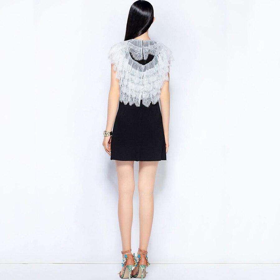 Nouveau Robe Georeliot Picture As Lettre Femmes 2018 Broderie Designer Dentelle Parti Piste Diamants Vintage Patchwork D'été ntFqYFwB
