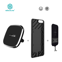 NILLKIN Magnetic Wireless Receiver Case And Qi Wireless Charger Pad Portable For One Plus 5 Oneplus