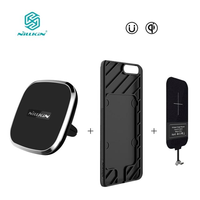 NILLKIN Магнитный корпус беспроводной приемник и беспроводное зарядное устройство Pad Портативный для один плюс 5 OnePlus 5 чехол для Xiaomi mi6 крышка