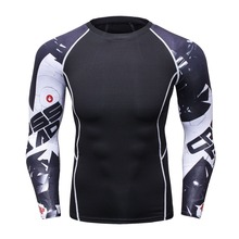 Mens Compression Long Sleeve Breathable Quick Dry T-Shirts