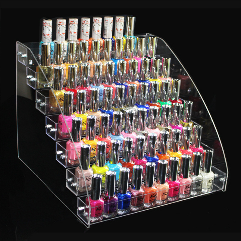 Organizer Display-Stand Transparent-Frame Nail-Shop Acrylic Plastic Layer High-Quality title=