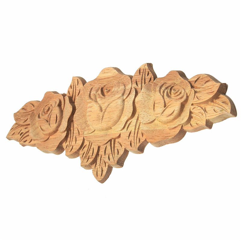 ᐊkiwarm 23 9cm Wooden Rose Flower 169 Carved Carved Long