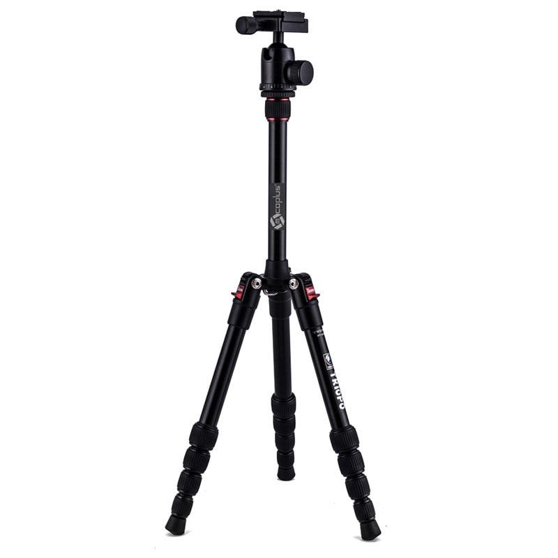 Mcoplus MT-2205 52 Professional Tripod Portable Flexible Aluminum Traveling + KJ-1S Ball Head Pocket for DSLR Camera triopo nb 1s professional camera ball head