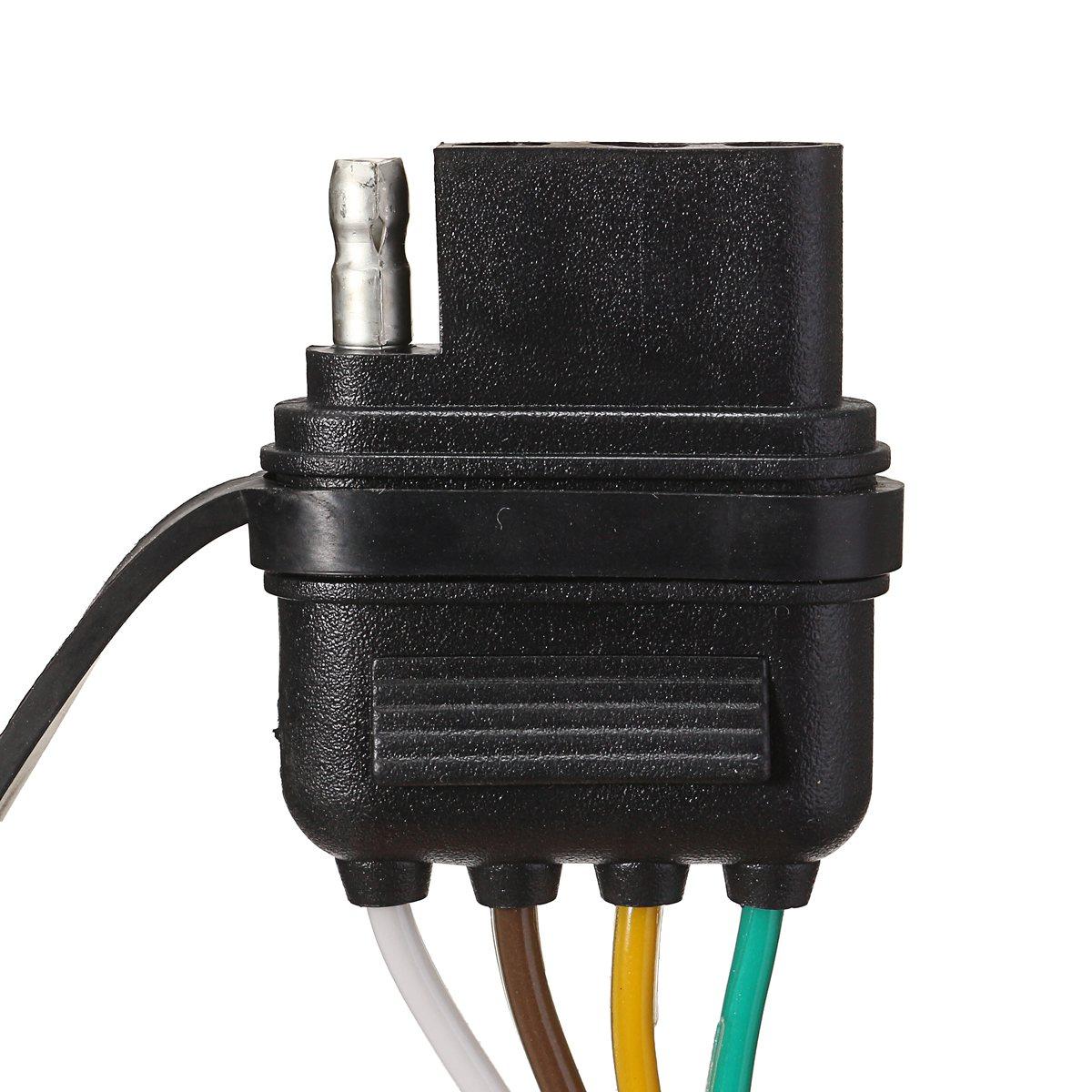 kroak 2 way 4 pin trailer splitter y split wiring harness adapter for led tailgate bar [ 1200 x 1200 Pixel ]