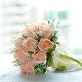 Romántico Rosa Artificial Decoración de Flores Ramos de Novia Ramo de Novia de La Boda accesorios Buque de noiva Envío Libre
