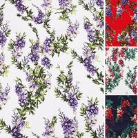 140X100cm 50s Vintage Wistaria Cotton Poplin Fabric for Dress Sewing Patchwork DIY-AF065