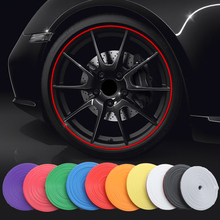 8M/ Roll Car Vehicle Color Wheel Rims Protectors Decor Strip Tire Guard Line Rubber Styling Mouldings Trim Free shipping