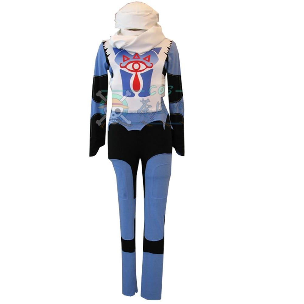 Hot Sale 2018 The Legend Of Zelda Ocarina Of Time Sheik Blue Uniform