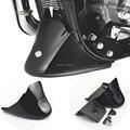 Brillante negro Vivid negro brillante de la parte inferior delantera Spoiler guardabarros adapta para Harley Sportster 1200 XL hierro 883 2004-2016