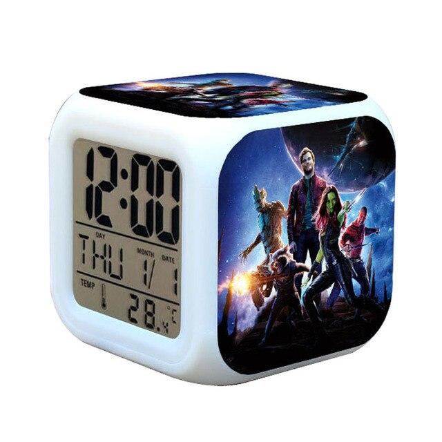 Guardians van de Galaxy wekkers kids nachtlampje digitale horloge ...