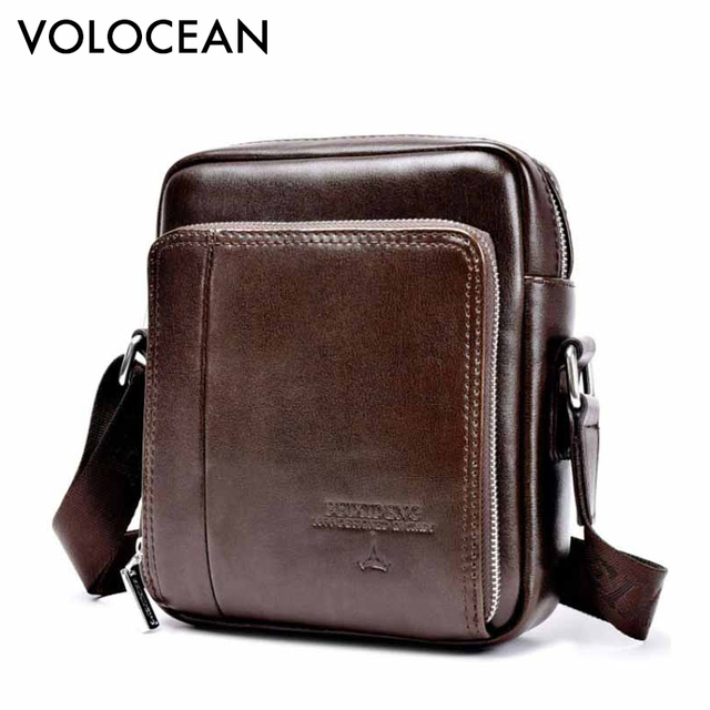 e00b0f8fab 2017 Hot Sale Vintage PU Leather Small Bag Men Messenger Bags Mini Mobile  Phone Fashion Men s