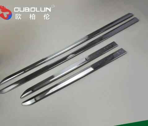 Car styling Chrome Body Side Door Trim Molding Exterior cover for Land Rove  FREELANDER 2 Door Side Molding Trim car accessories