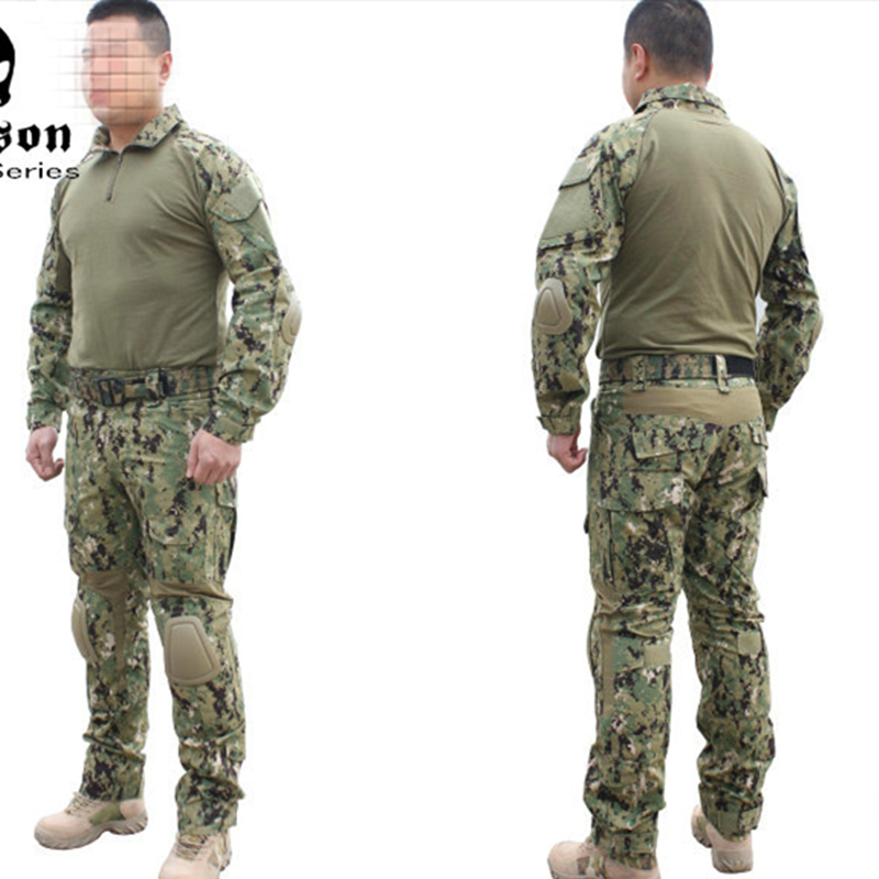Emerson BDU Military army combat uniform BDU Gen2 Combat Shirt Pants with elbow knee pads AOR2 Suits EM6924 emerson military army uniform combat uniform gen2 marpat woodland em6913