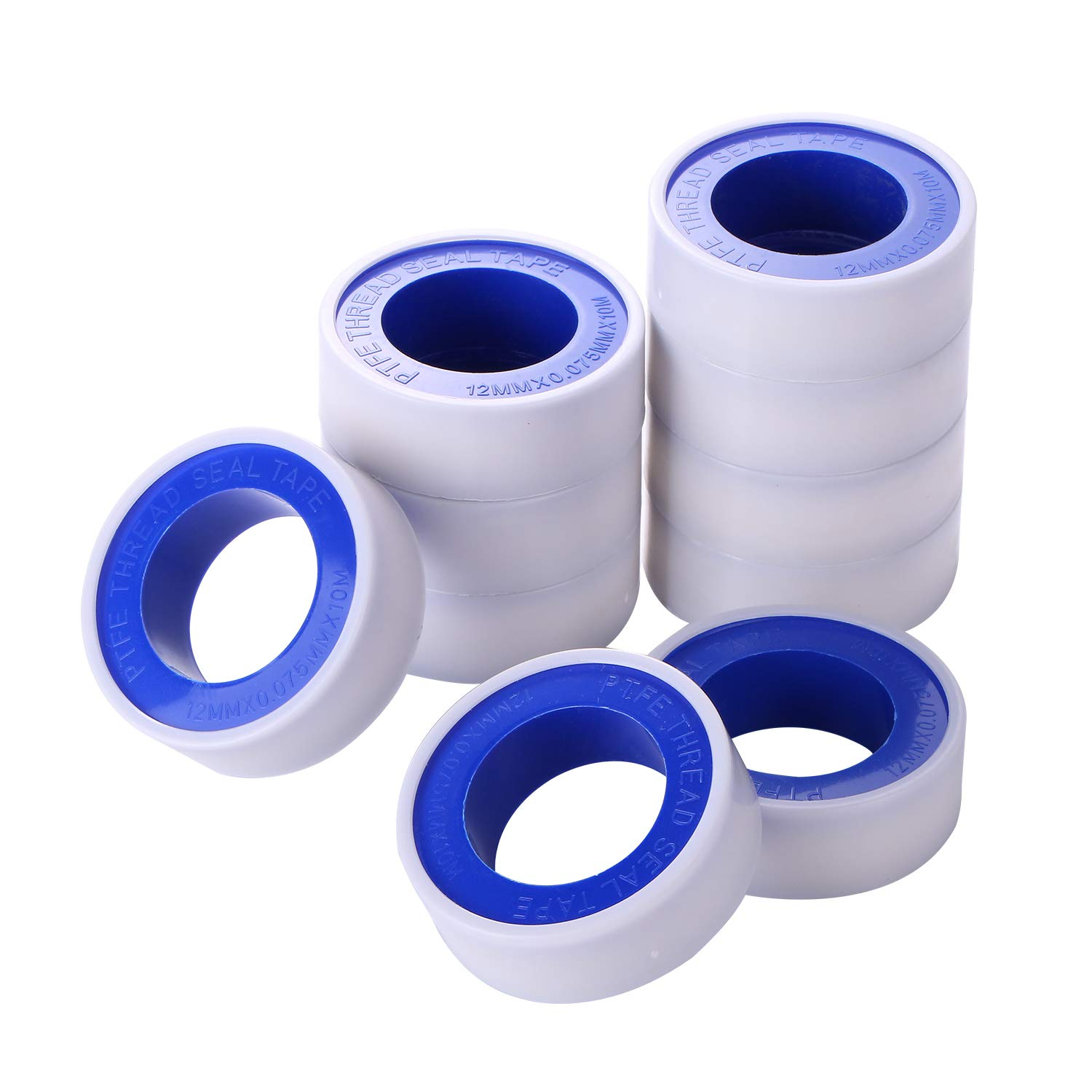"""12 Roll PTFE Teflon Pipe Fitting Thread Seal Tape 1//2/"""" x 260/"""" for Plumbing"""
