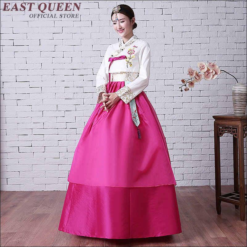 קוריאני מסורתי שמלת 2018 hanbok קוריאני מסורתי hanbok שמלת קוריאני מסורתי בגדים לאומי תחפושת AA1562z