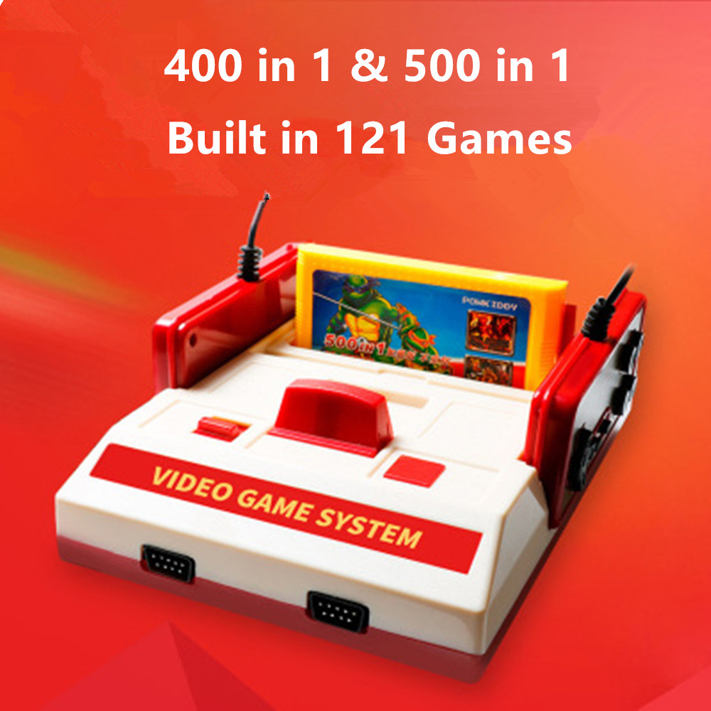 Consoles-Player Games-Cards Video-Game-Console Classic Subor Family D99 TV with 400-In1