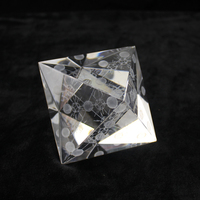 Free shipping 125mm rhombus shape 3d crystal laser Household adornment