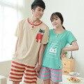 Nuevo verano pijama a juego Print pijamas parejas lindo ropa de dormir ropa de casa de dormir