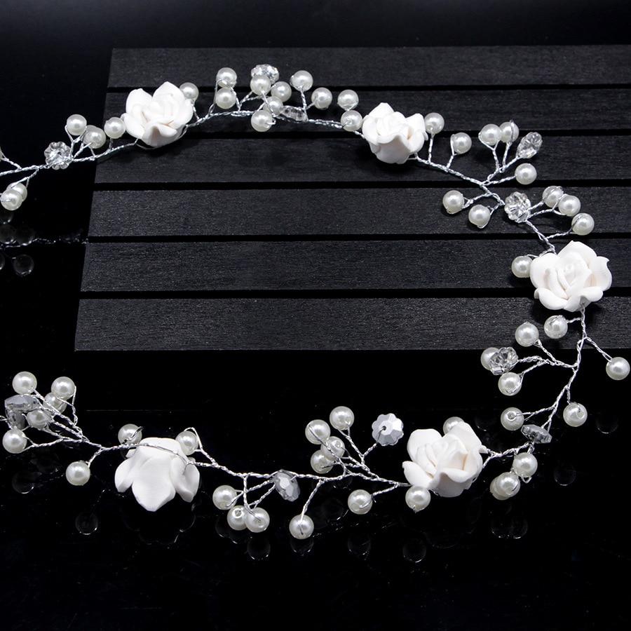 HTB1Uo6tnHSYBuNjSspiq6xNzpXaF Bridal Handmade Hair Flower Vine Accessory