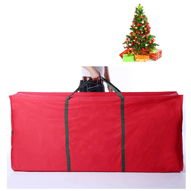 Waterproof Oxford Cloth Christmas Tree Storage Bag Foldable Travel Luggage  Package Xmas Gifts Box Organizer Rolling