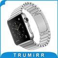 22mm 24mm link pulseira para apple watch 38 iwatch mm 42mm pulseira de aço inoxidável banda strap com adaptador 1:1 como o original