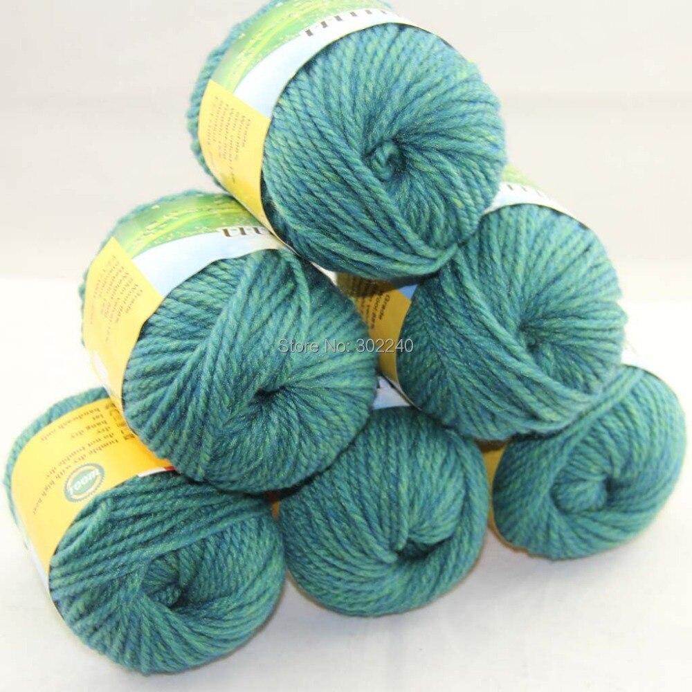 LOT 6 BallsX50g robustní ručně tkané hrubé pletací příze - Umění, řemesla a šití
