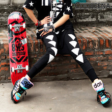 #1931 Harajuku Hip hop Jogging pants for women Harem Women Loose Personality Punk rock sport woman Baggy