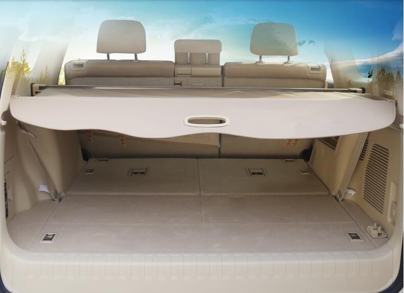 For Toyota Land Cruiser Prado FJ150 2010-2018 Beige/Black Rear Cargo Cover Trunk Shade Security Cover 1Set Car Styling все цены