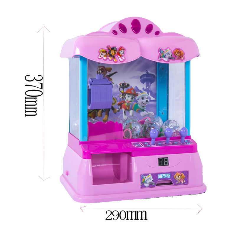 Pata patrulha ação brinquedo figuras música pegar a máquina de boneca brinquedo doméstico moeda para pegar a boneca menino menina presente aniversário