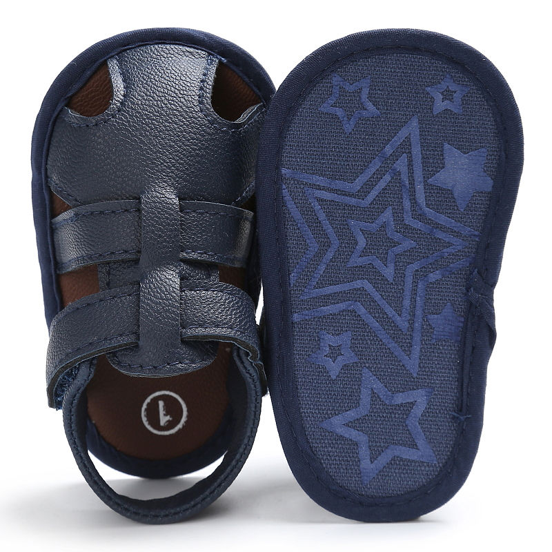 Summer Newborn Baby Shoes Pu Leather Kids Boys Soft First Walkers Infant Baby Summer Shoes Anti-Slip Footwear For Bebe