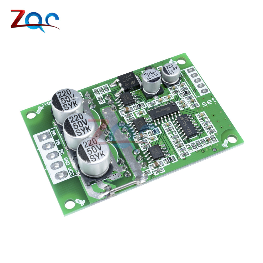 DC 12V-36V 24V 500W PWM Brushless Motor Controller Hall Motor Balancing Automotive Balanced BLDC Car Driver Control Board Module dc 12v 24v 36v 2 way pwm motor driver board module 450w high power controller