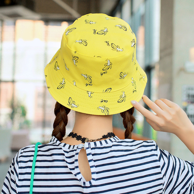 Unisex cotton Banana Hip Hop cool outdoor Bob Caps