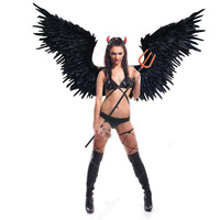 The bride wedding photography large props white angel feather wings Black Devil wings beautiful birthday gifts EMS free shipping