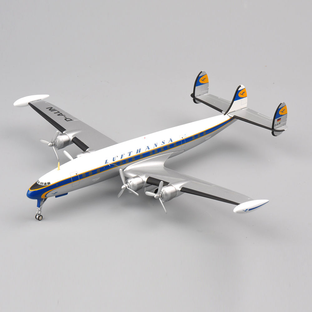 1:200 Lufthansa Lockheed L1049 G Constellation Alloy Plane Aircraft Model kids toys for collection ph 1 400 lufthansa german airlines airbus a380 alloy aircraft model d aimn
