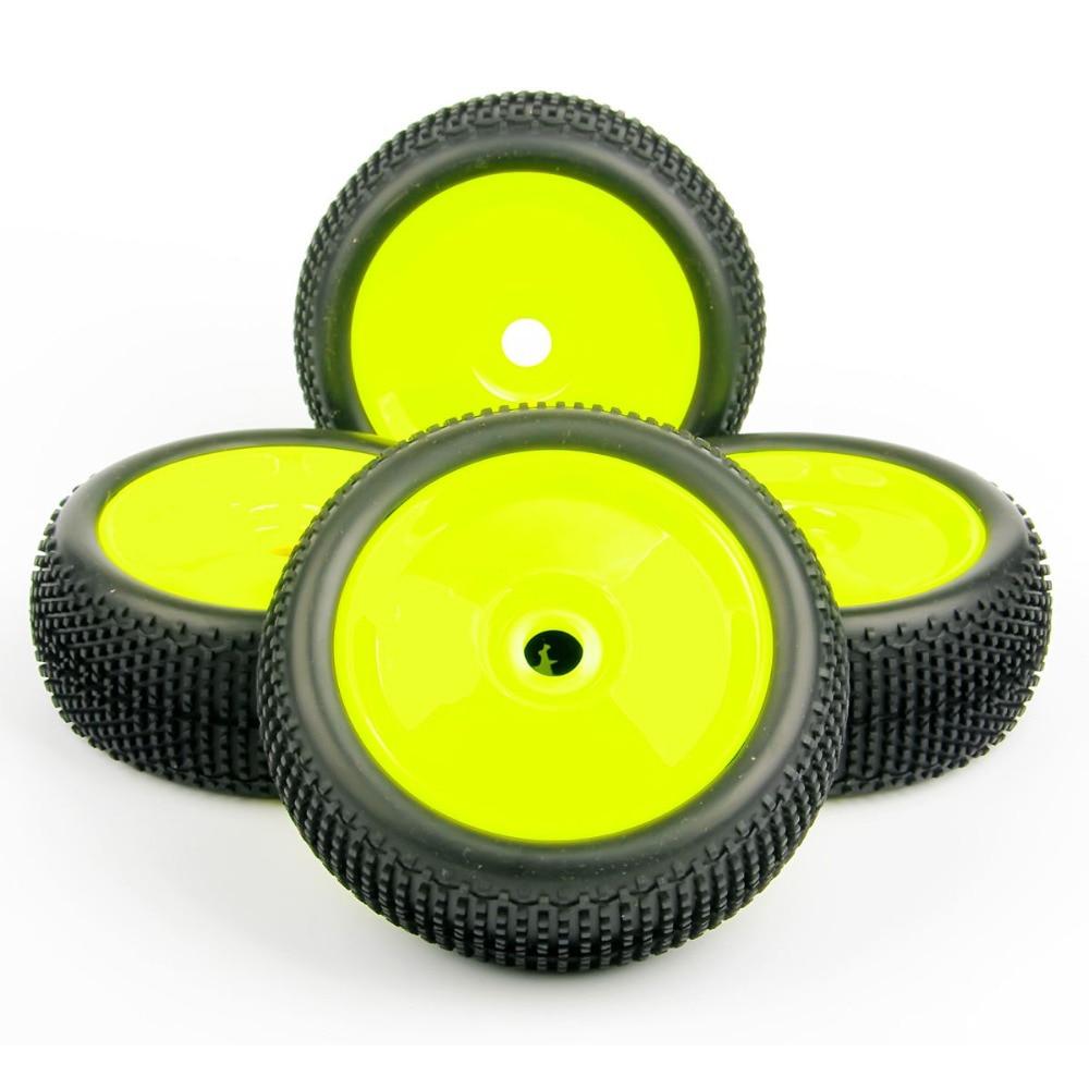4pcs/set 1/8 RC Car Tires Set Buggy Off-Road Tire Rim 17mm Hex F. Losi HPI Kyosho MP9 1:8 RC XTR Badlands Accessories