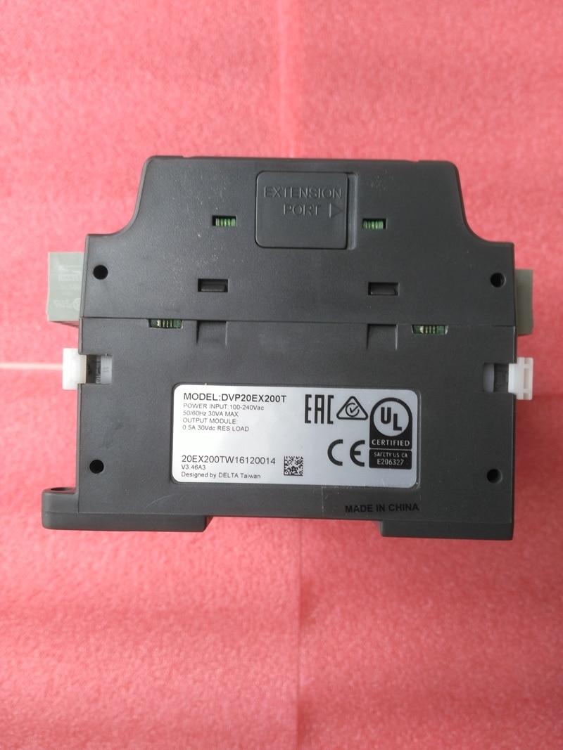 New Original DVP20EX200T Delta PLC EX2 series 100-240VAC 8DI 6DO Transistor output 4I 2AO new original delta plc eh3 series 100 240vac 24di 16do transistor output dvp48eh00t3
