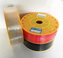 200 מטר שקוף פנאומטי אוויר צינור PU צינור OD 3 MM מזהה 2 MM פלסטיק גמיש צנרת PU3 * 2 פוליאוריטן צינורות