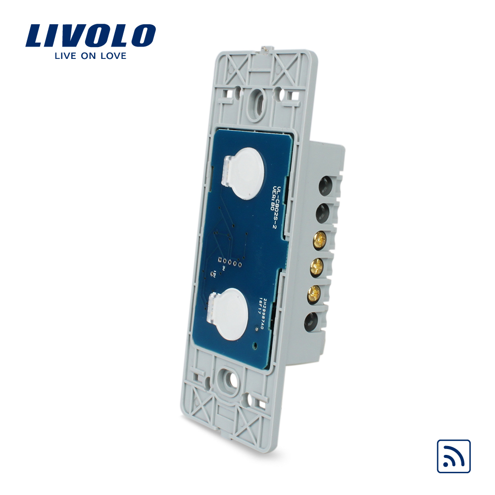 Livolo UNS standard Wand Licht Remote Touch Schalter Basis Bord, 2 gang 1way, Ohne Kristall Glas-Panel, VL-C502R