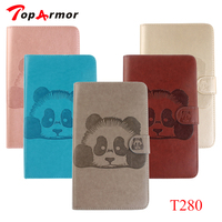 TopArmor 3D Panda Stand Flip Leather Case For Samsung Galaxy Tab A 7 0 T280 T285
