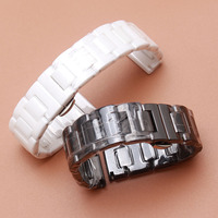 White Ceramic Watchbands width 14mm 16mm 18mm 20mm Strap NEW Fashion Watch watchband for dress watches women Ceramic watch starp