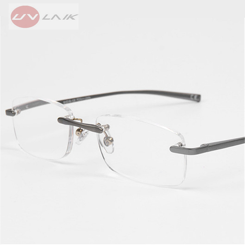 UVLAIK Rimless Female Male Reading Glasses Frameless Spectacles ...