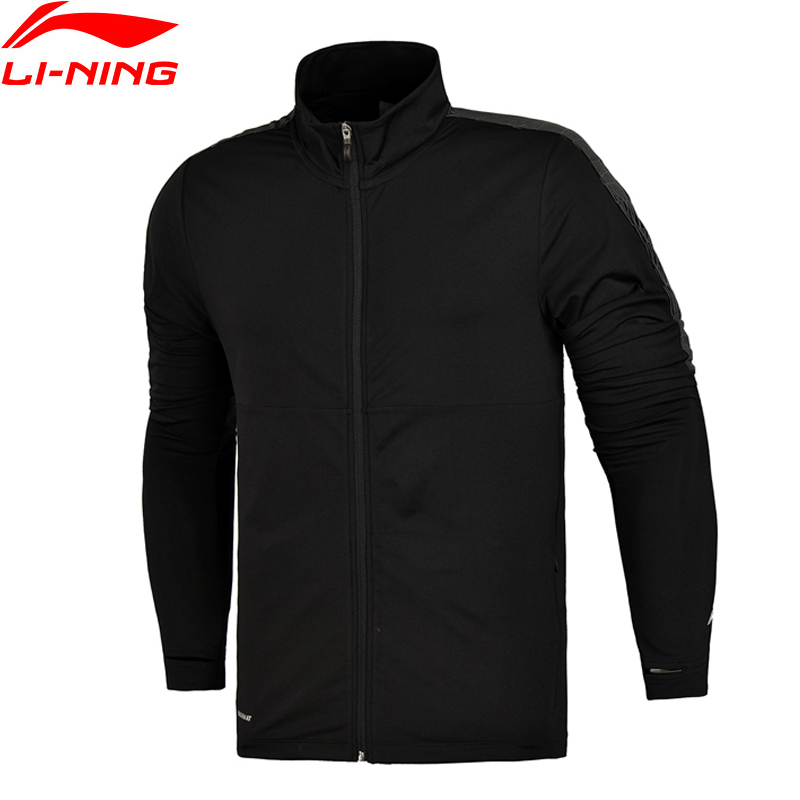 Li-Ning Men Running Coat WARM At 83% Polyester 17% Spandex Knitted Jacket LiNing Sports Coats AWYM015 MWW1305 men at arms