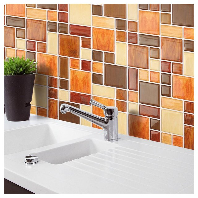 3d tile mosaic pattern wallpaper modern wall background livingroom kitchen decorpattern2 260mm x - Tiles For Living Room And Kitchen