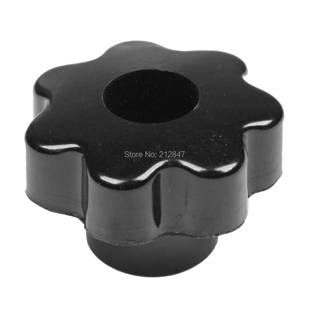 M8 50mm Dia Thread Black Plastic Star Head Clamping Knob Grip настольная лампа omnilux декоративная oml 820 oml 82004 01