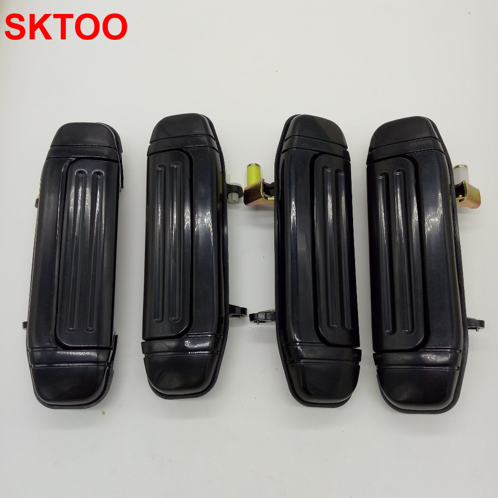 SKTOO A Set /4PCS Door Handle Plating for Mitsubishi Montero Pajero V46 V31 V32 V33 6470 6473 2030 parts (Plating on Plastics)