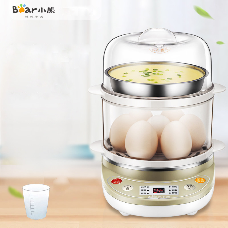 Bear ZDQ-C14A1 Egg Boiler Timing Breakfast Steamer Automatic Power Off Stainless Steel Booking Timing Stainless Steel Bowl цена и фото