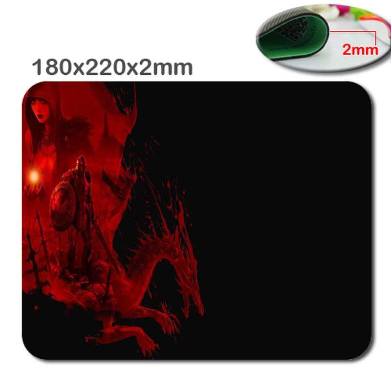 220mm*180mm*2mm Custom Red Gragon 3D print gaming pad mouse notbook computer mouse pad padmouse notebook PC players to play mat