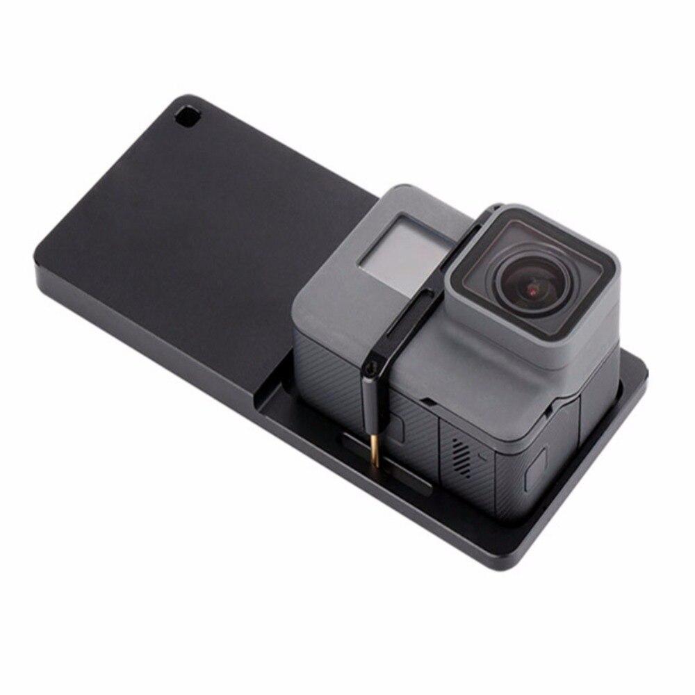 Montaje acción Cámara placa adaptador para Gopro Gimbal móvil placa de montaje del interruptor para Zhiyun Handheld Smartphone Gimbal