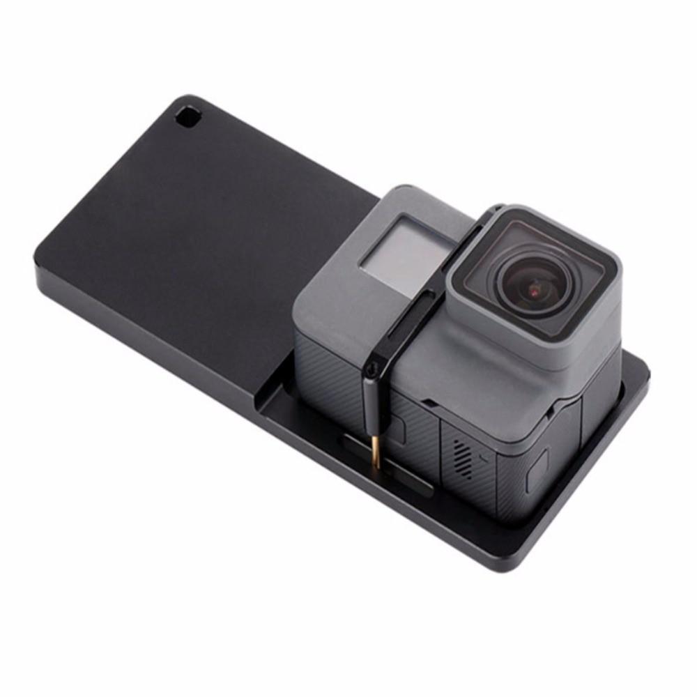 Monte Action Camera Placa de Interruptor Placa de Montagem Adaptador para Gopro Cardan Móvel para Smartphones Handheld Cardan Zhiyun